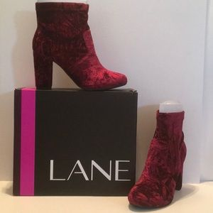 LANE BRYANT NEW In BOX CABERNET HEATHER BOOTIES 9W